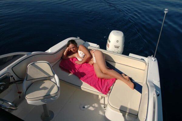 Saver 590 Cabin Nautic Service Lago Di Garda Prendisole Poppa